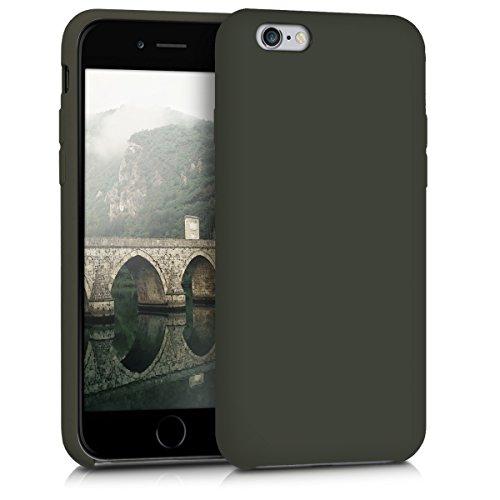 kwmobile Cover Compatibile con Apple iPhone 6   6S - Cover Custodia in Silicone TPU - Back Case Protezione Cellulare Verde Oliva Opaco