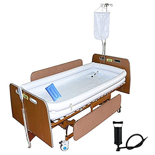 Product Image of the Medical Inflatable Bathtub Shower System - Adult PVC Bathtub with Water Bag, Bath in Bed Assistive aid for Disabled, Elderly, Bedridden Patient Easily Bath in Bed