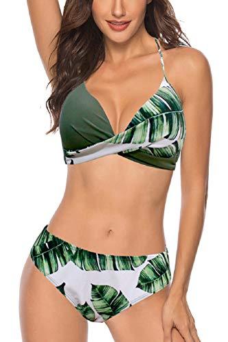 Tuopuda Costume da Bagno Push Up Imbottito Donna Reggiseno Bikini Due Pezzi Costumi da Bagno Sexy Spiaggia Swimwear Beachwear
