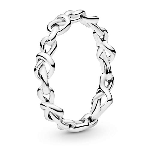 Pandora Jewelry Knotted Hearts Sterling Silver Ring, Size 5