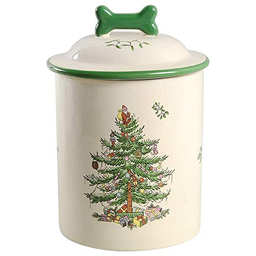 Spode Christmas Tree Treat Canister 7.5'