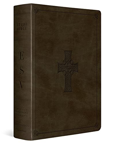 Compare Textbook Prices for ESV Study Bible TruTone, Olive, Celtic Cross Design, Indexed Indexed Edition ISBN 9781433571008 by ESV Bibles by Crossway