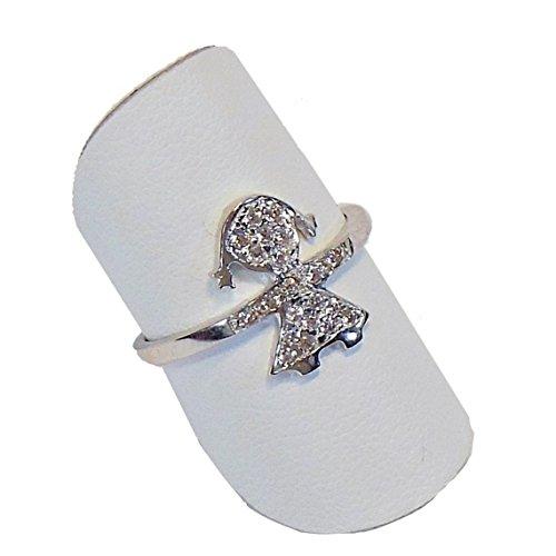 FOGI by Gianni Carità: anello Bimba Silver 925 Basic in argento bianco e zirconi misura 14
