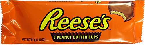 Hershey's Reese's 3 peanut butter cup dolcetto al Burro di Arachidi 51g hersheys reeses
