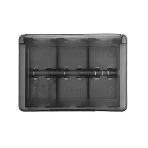 SHOTAY 28-In-1 Game Card Case, 28-In-1 Black Game Card Case Holder Cartucho Caja de Almacenamiento para DS 3DS Black