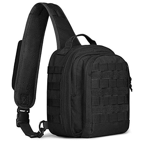 G4Free Tactical Sling Bag Backpack with Pistol Holster...