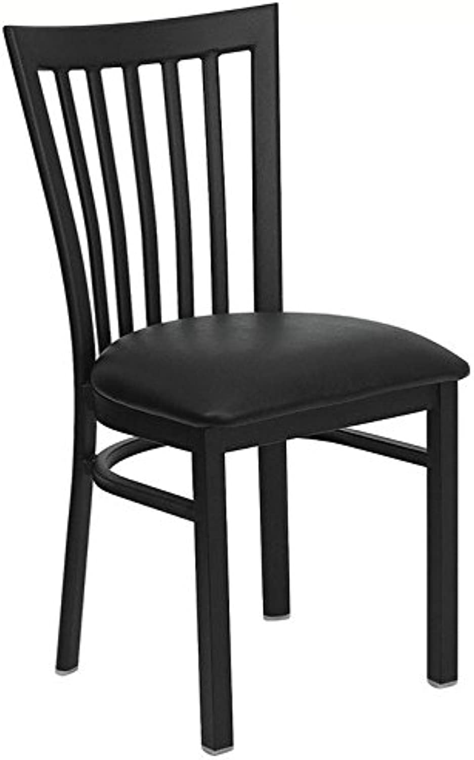 Bowery Hill School House Back Metal Dining Chair in Black
