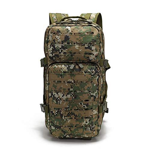 バッグスクールバッグクライミングYHHXオックスフォード布バックパック、3Dリュックドアアドベンチャー戦術迷彩バックパック屋外防水バックパックレトロなバックパック迷彩戦術的なバックパック,Armygreencamouflage