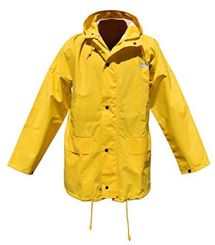 Ocean Rainwear Damen Herren Regenjacke Modell Budget, Farbe:gelb, Größe:XXXL