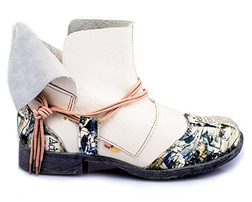 TMA 5161 Damen Stiefeletten weiß - EUR 40
