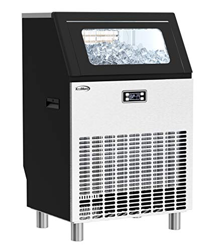 KoolMore - CIM266 Undercounter Ice Maker Machine, Commercial and Residential, Produces 265 lbs. of Cubes in 24 Hrs, Energy Efficient for Bar, Cafe, Restaurant or Event Use, Black