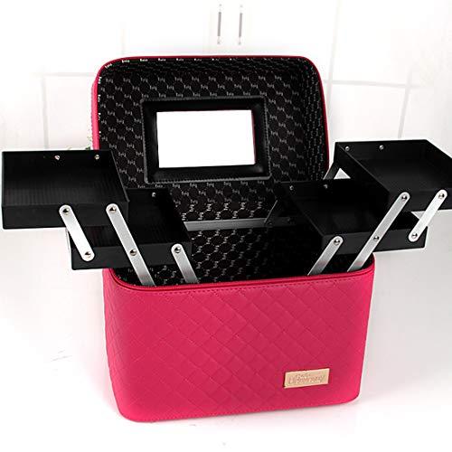 LILINSS dames cosmetische tas met make-up spiegel grote capaciteit aluminium legering houder cosmetische opbergdoos sieradendoos