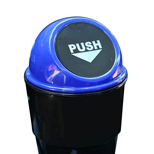 CAOLATOR Mini Boite de Poubelle de Voiture, Plastique avec Couvercle Une Ouverture à Ressort (20 * 6.5 * 9CM)