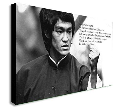 Bruce Lee – Vide Your Mind – Impression sur toile encadrée – Différentes tailles (A1 81,3 x 61 cm)