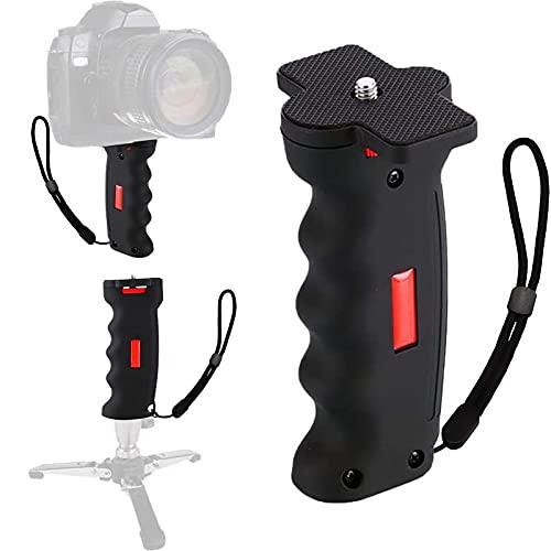 Poyinco Wide Platform Pistol Grip Camera Handle Camera Stabilizers with 1/4' Screw for SLR DSLR DC Canon Nikon Sony iPhone Xiaomi Smartphone