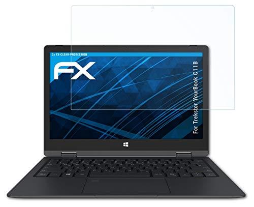 atFolix Schutzfolie kompatibel mit Trekstor YourBook C11B Folie, ultraklare FX Bildschirmschutzfolie (2X)