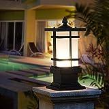 Vintage Nostalgie Industriesäule Laterne Outdoor Square Design Wasserdicht IP44 E27 Gartenlampe Aluminium und Glas Lampenschirm Rasenterrasse Pfostenleuchten Home Decoration Lampen