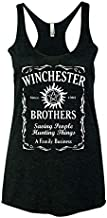Supernatural Winchester Brothers TV Series Whiskey Style Women Tank Top - Black New (2XL)