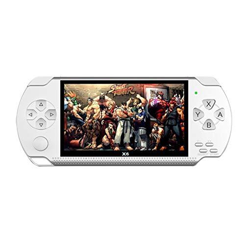 STRIR Consola de Juegos Portátil, 10000 Juegos Retro 4.3 Pulgadas 8 GB Consolas de Videojuegos Portátiles con Cámara Nueva Versión (Blanco)