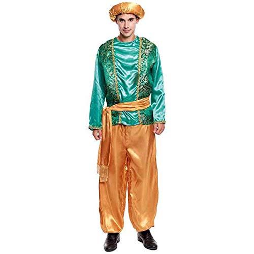 Partilandia Disfraz PAJE Verde para Hombre Navidad (L)