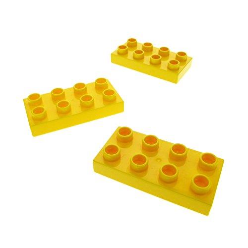3 x Lego Duplo Bau Basic Platte gelb 2x4 Stein 2 x 4 für Set 10545 5655 10514 7841 5681 10511 40666