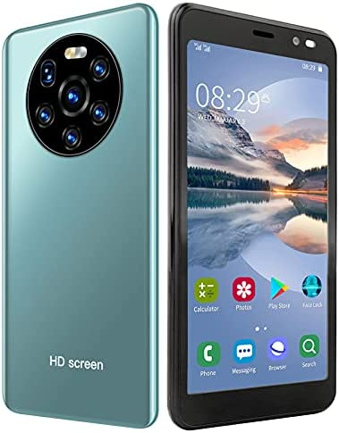 5.45in HD Full Screen Cell Phones, Mate40 Pro Dual Card Dual Standby Smartphones,512MB+4GB Android 6 Smart Phone, MTK6572 Dual-Core CPU, Face Recognitio Unlocking(Green)