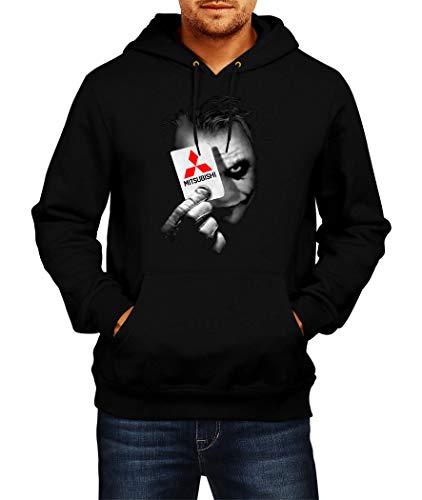 Sweatshirt Mitsubishi Joker 1 Logo Hoodie Herren Men Car Auto Tee Black Grey Long Sleeves Present Christmas (XL, Black)