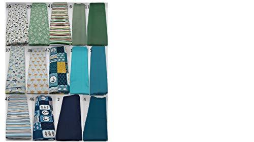 Stoffpaket grün blau verschiedene Größen Baumwolle Stoffreste Webware Patchen Patchwork Baumwollstoff Restepaket unifarben einfarbig uni petrol mint mintgrün türkis pastell