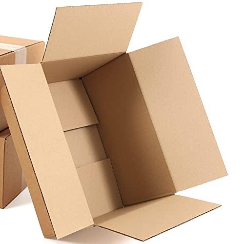 Cajas de cartón plegables, 200 x 150 x 90 mm, 50 unidades, pequeñas cajas de cartón ondulado, ideales para envíos de mercancías