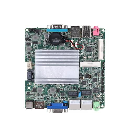 SRR Fit for Qotom Mini ITX con procesador Celeron J1900 a Bordo, Quad Core 2 GHz, hasta 2,42 GHz, Placa Base Dual LAN DC 12V