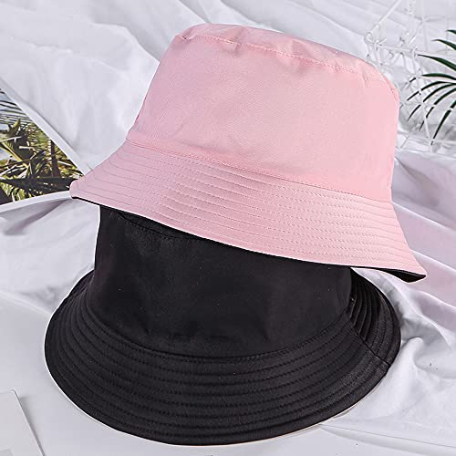 Sombrero para el Sol Plegable con Visera Ancha para Mujer UPF50 + con Correa para La Barbilla, Sombrero de Pesca Unisex, Gorra de Viaje para La Playa Al Aire Libre (Pink)