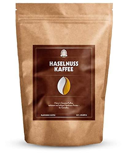 Henry´s Haselnuss Kaffee 250g - Gourmet Kaffee mit feinsten Aromen verfeinert - handwerkliche Röstung - Premium Kaffeebohnen