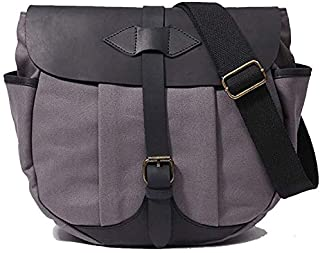 Canvas Messenger Bag Men Business Vintage Shoulder Tote Crossbody Handbag Briefcase for 9.7'' iPad Tablet Laptop (Color : Khaki) Elise (Color : Gray)