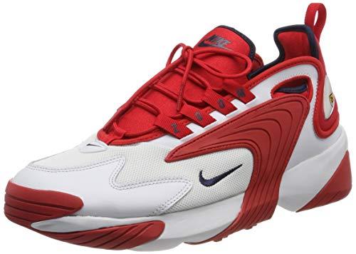 Nike Herren Zoom 2K Laufschuhe, Mehrfarbig (Off White/Obsidian/University Red 102), 44 EU