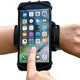 アームバンド ランニングアームバンド スマホ腕ホルダー 4-6.5インチのスマホに対応 180度回転 通気 防汗 iPhone Android 全機種対応