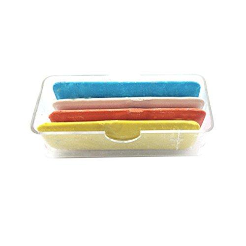 BleuMoo 1Set Tailor's Fabric Chalk 4 Color Dressmaker Triangle Tailor Fabric Chalk