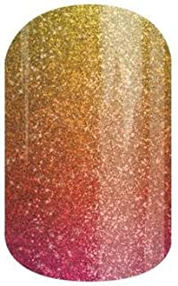 Jamberry Nail Wraps - Byrd - Full Sheet - Red, Orange, Yellow Ombre - It Girls Collection