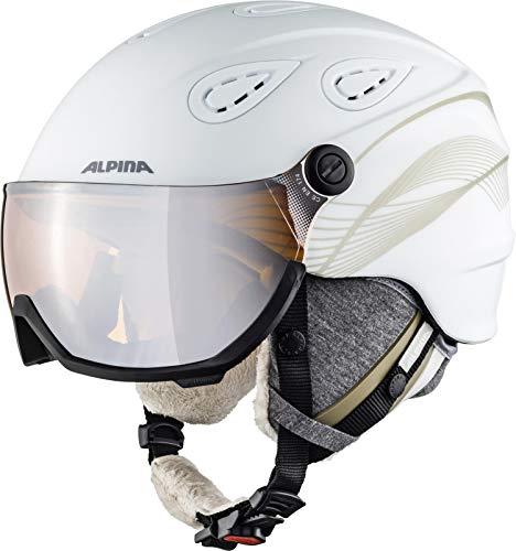 ALPINA GRAP VISOR 2.0 HM Skihelm, Unisex– Erwachsene, white-prosecco matt, 54-57