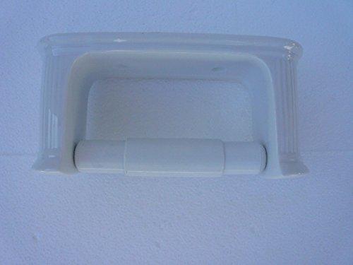Wiegand Toilettenpapierhalter aus Porzellan gerillt weiß