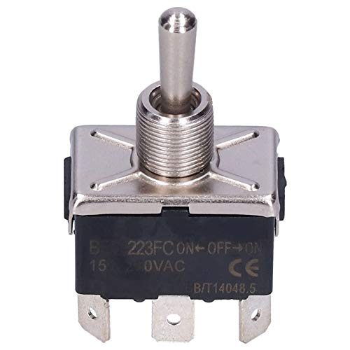 Interruptor de Palanca de 20 Piezas Mini Interruptores de Encendido y Apagado 15 A 250 VCA Interruptor de Palanca Basculante