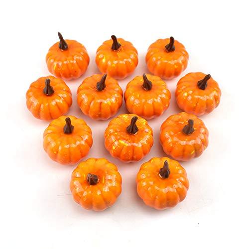 Olen Artificial Pumpkin Home Decor Small Mini Fake Pumpkins for Decorating Set of 12