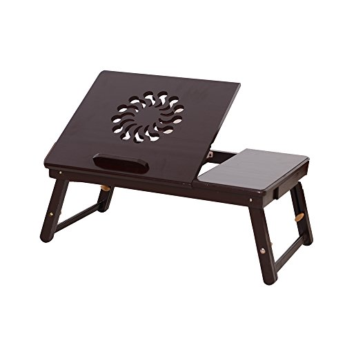 Cheapest Price! Portable Laptop Table, Height & Angle Adjustable Sit and Stand,Foldable Notebook S...