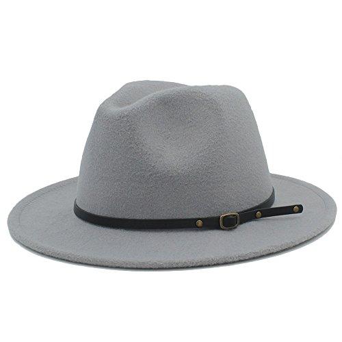 Señora sombreros Sombrero de Fedora con cuero, diseño de moda de otoño y invierno. Sombrero de lana, sombrero de Panamá, for el diseño original. Sombrero de lana for mujer. Sombreros elegantes