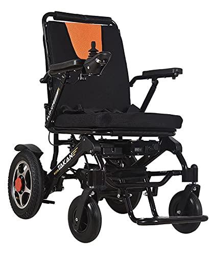 XIAOQIAO Sillas de Ruedas Motorizadas Multifuncionales Silla de Ruedas Compacta Eléctrica Plegable con Joystick de 360 ° para Ancianos Discapacitados, Admite hasta 100 kg