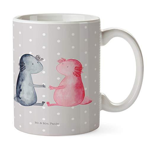 Mr. & Mrs. Panda Tazza da caffè, Tazza da tè, Tazza Axolotl Amore - Colore Pastello Grigio