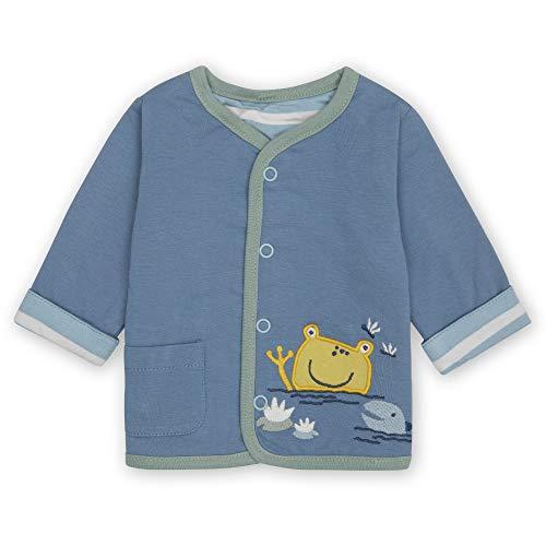 Sigikid Baby-Jungen Classic Bio-Baumwolle für Kinder Wendejacke, New Born, Blau, 62