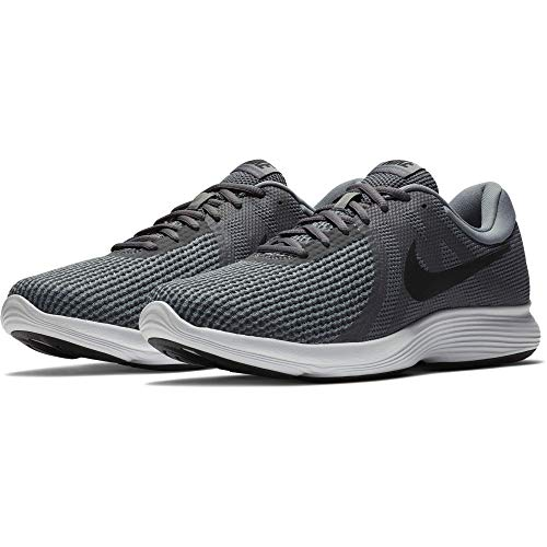 Nike Men's Revolution 4 Running Shoe, Dark Grey/Black-Cool Grey/White, 10 Regular US