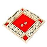 Holztisch Brettspiel Doppelseitig Nummer 4 Seiten Red Brettspiel Für Eltern-Kind-Beziehung Flip