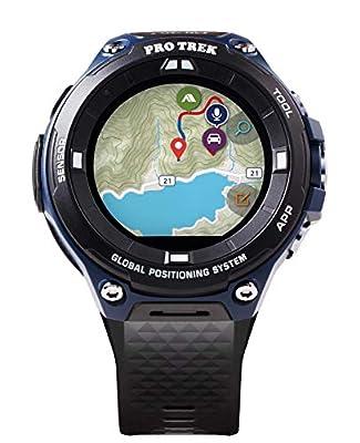"Casio Men's ""Pro Trek"" Outdoor GPS Resin Sports Watch, Color: Black & Indigo Blue (Model WSD-F20A-BUAAU) from Casio"