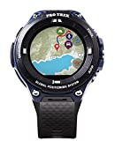 Casio Men's 'Pro Trek' Outdoor GPS Resin Sports Watch, Color: Black & Indigo Blue (Model WSD-F20A-BUAAU)